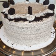 Oreo icing which comes with the oreo crumbs around the cake.