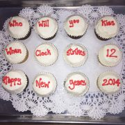 Custom inscriptions are on each of these cupcakes.