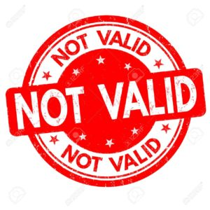 Not valid sign or stamp